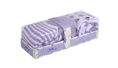 Premium Infused Soft Sock with USA Imported CBD & Essential Oils - 3 Pairs in Gift Box - OSFM (Purple & Lavender)