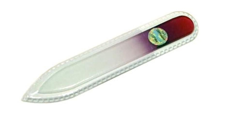 限りなくヘッジ革新ブラジェク ガラス爪やすり 90mm 両面タイプ(パープルグラデーション #03)