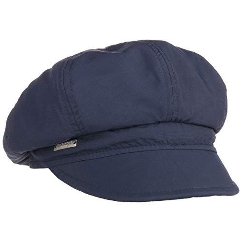 Seeberger Rain and Sun Ballonmütze Damencap Newsboy-Mütze Baker-Boy-Mütze Regencap Sonnencap Wintercap (One Size - dunkelblau)