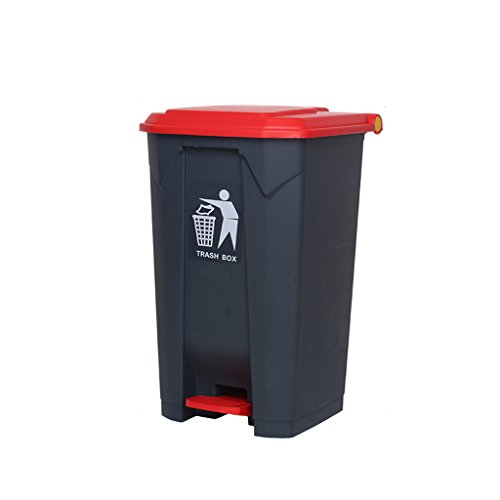 Best Bargain WQEYMX Outdoor Trash can Trash can, Pedal-Type Trash can for mall/Outdoor/Courtyard/Res...