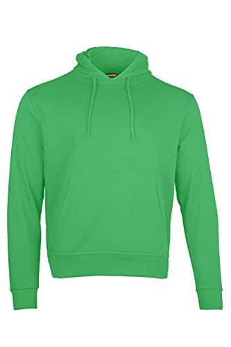 Men's Pull-Over Hooded Sweatshirt Hoodie, Adult Regular Fit Plain Colour...