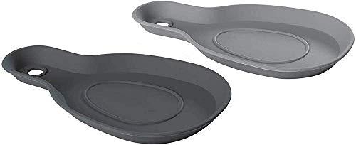 Lurch 70263 Kochlöffelablage aus 100% BPA-freiem Platin Silikon 2er Set