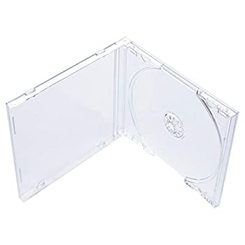 Maxtek 10.4 mm Standard Single Clear CD Jewel Case with Assembled Clear Tray 50 Pack