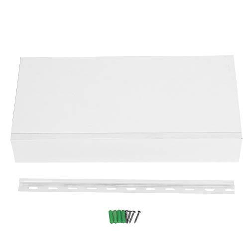 Estante de almacenamiento de exhibición, estante de pared flotante blanco estante de almacenamiento de exhibición con cajón decoración del hogar para exhibir en su hogar(48X25X8cm)