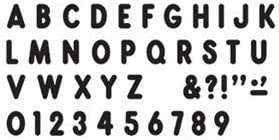 Max 43% OFF Black Ready Letters 67% OFF of fixed price 7In Font Billboard Uppercase-
