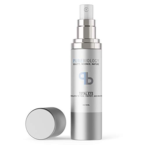 Pure Biology Total Eye Cream with Hyaluronic Acid, Baobab Oil & Anti Aging Complexes to Reduce Dark
