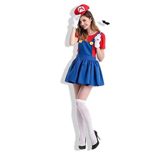 0-0 Halloween Carnaval Fancy Jurk Cosplay Kostuum Party Anime Game Uniform (hoed, top, Rok, Handschoenen, Baard)