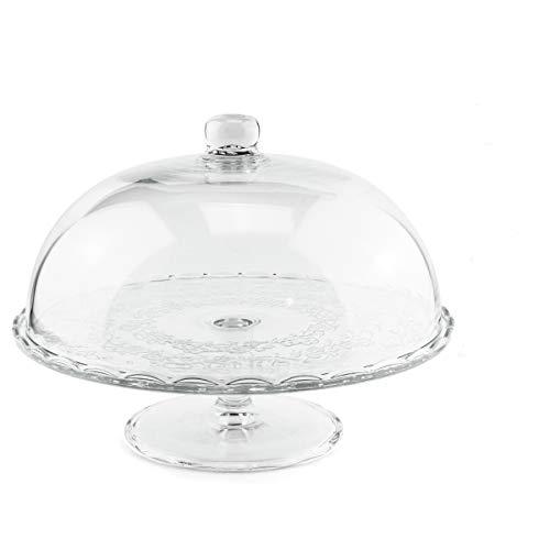 GreaTool - Plato para Tartas Juego para Tarta Campana de Cristal 30cm (Plato Cristal 30cm)