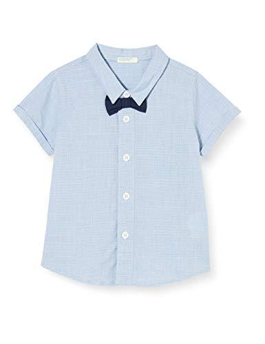 United Colors of Benetton Camicia Camisa, Turquesa (Celeste 901), 74 para Bebés