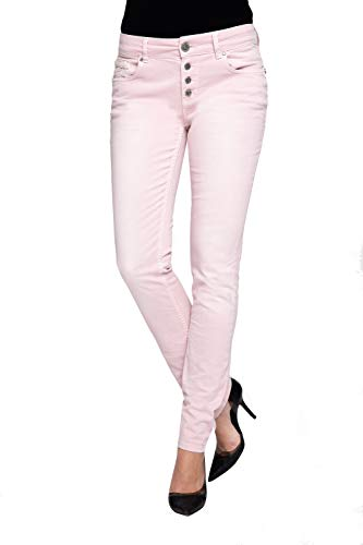 Coccara Damen Jeans Hose Curly New Women's Denim CN116706, Cn677 - Rose, 28