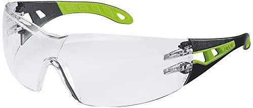 uvex pheos Arbeitsbrille - EN 166 & 170 - Klar/Lime-Schwarz