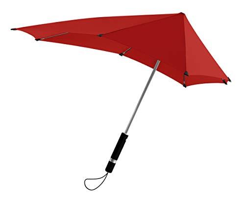 傘 耐風 Senz センズ オリジナル 雨具 雨傘 日傘 長傘 パラソル 晴雨兼用 紫外線 UVカット パッションレッド 90x87cm senz101-PR