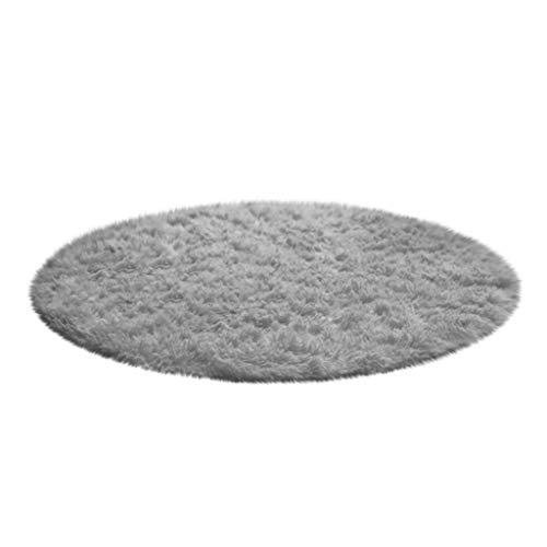 Teppich Teppiche Bodenduschteppich Rutschfester Rund Matte Schlafzimmer Wohnzimmer Läufer Küchenläufer Weiches Bad Jugendzimmer Kinderzimmer Bodenteppich Yoga Plüsch Home Decor 40cm
