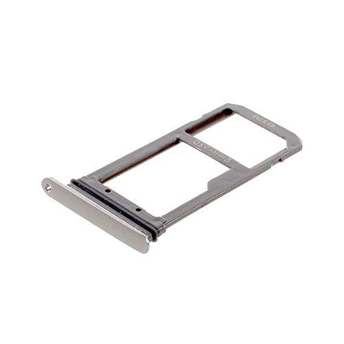 jbTec SD-Card/SIM-Tray/Halter passend für Samsung Galaxy S7 Edge - Slot Karte Schlitten Rahmen Holder Handy Card Ersatz, Farbe:Silber