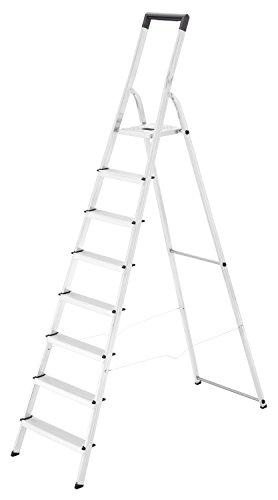 HAILO 8140-807 - Escalera de tijera de aluminio L40 EasyClix (8 peldaños)
