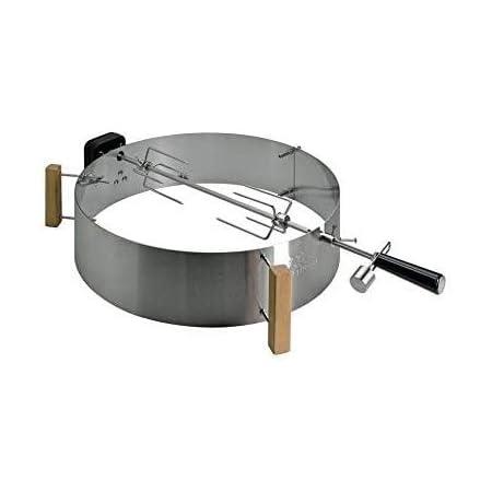 Moesta-BBQ 10091 - Set di girarrosto con Smokin' per pizza, girarrosto con motore a batteria senza fili per barbecue sferici Ø 47 cm