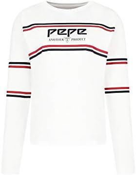 Pepe Jeans Camiseta de Manga Larga Color Blanco para Mujer