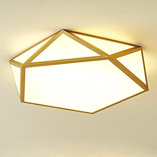 XCUGK LED Lámpara de Techo Moderna 48W Regulable Lámpara de Techo 3000k-6000k Atenuación de Tres Colores para baño Escalera Pasillo balcón Garaje 42x10cm