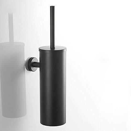 Moerc Wc borstelhouder 304 roestvrij staal Black Toiletborstelgarnituur muur bevestigde geperforeerde Deodorant Tube toiletborstel Durable Toilet Brush Stacker Badkamer Toilet Cleaning Tool