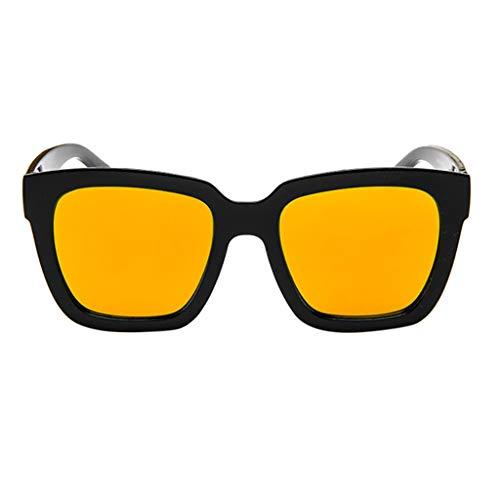Kolylong_femme 2019 Lunettes de Soleil Femme,Kolylong Sunglasses polarisées pour Les Femmes Miroir lentille Lunettes de Vue de Mode Plage Essentiel de Aventure Sports de Plein air (Orange)