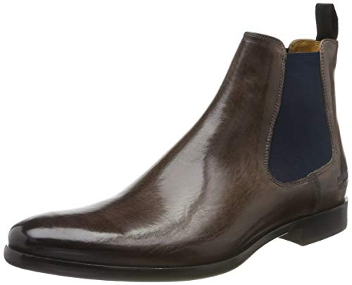MELVIN & HAMILTON MH HAND MADE SHOES OF CLASS Herren Clint 7 Chelsea Boots, Blau (Blue Crust-Stone-Elastic-Navy-Lining-Rich Tan-Insole Leather-Hrsrnavyv), 41 EU