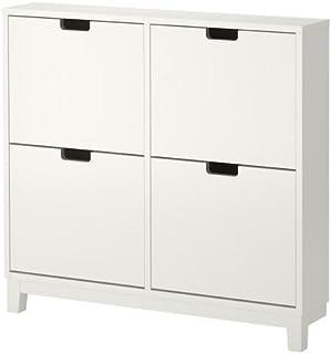 eLisa8 STÄLL - Zapatero con 4 Compartimentos, Color Blanco