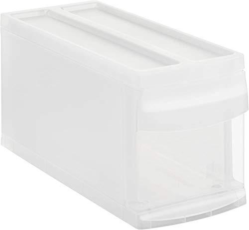 Rotho Systemix Schubladenbox 1 Schublade, Kunststoff (PP), transparent, Gr. S (39,5 x 17 x 20,3 cm)