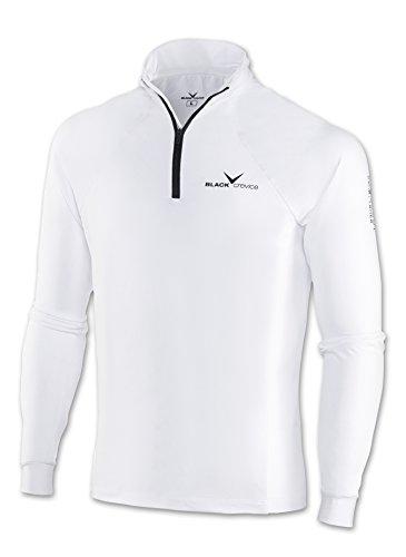 Black Crevice Col roulé de Ski à Zip pour Homme BCR11203, Mixte, Skirolli, Blanc/Noir, XXL