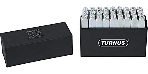 Turnus 0007697230005 Schlagbuchstabensatz Schrifthöhe vernickelt 27-teilig, 5mm