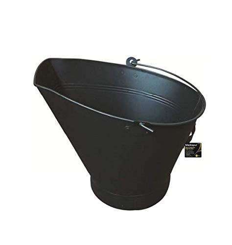 HomeZone schwarzer Kohleeimer für Anzündholz, Kohle und Brennstoff, BLACK WATERLOO STYLE BUCKET