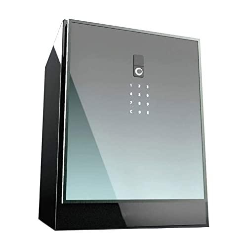 HFFSGS Caja segura de seguridad para el hogar de Deluxe con bloqueo de huellas dactilares biométricas, código digital electrónico, efectivo de almacenamiento, joyería, objetos de valor con cerradura d