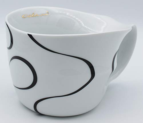 Luigi Colani Designer Jumbotasse Loop Schwarz/Black große Tasse Humpen Kaffeetasse ab OVO Color 450ml