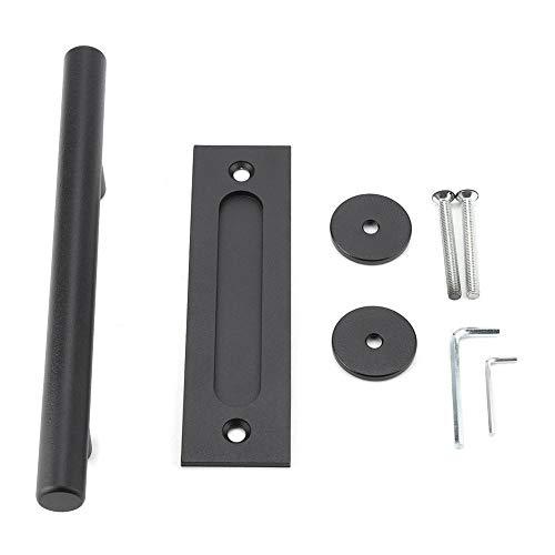 Barn deurgreep, zwart heavy duty koolstofstaal schuif barn deur kast pull greep hout deur hardware