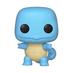 From Pokemon, Squirtle, as a stylized POP vinyl from Funko! Stylized collectable stands 3 ¾ inches tall, perfect for any Pokemon fan! Collect and display all Pokemon pop! Vinyl's!