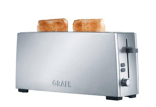Graef toaster met lange sleuf TO 90, roestvrij staal, zilver