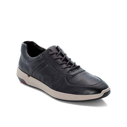 LLOYD Herren Low-Top Sneaker Argos, Männer Sneaker,Halbschuh,Schnürschuh,Strassenschuh,Business,Freizeit,SCHWARZ,44 EU / 9.5 UK