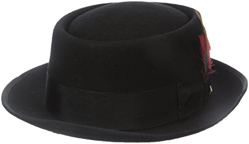 Scala Men's Wool Felt Porkpie Hat, Black, X-Large -  WF509-BLK4