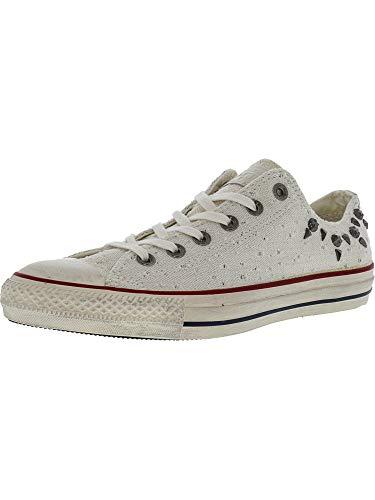 Converse Chuck Taylor Damen Sneaker mit Nieten, Ox, knöchelhoch, Stoff, (Lurex Egret), 39.5 EU