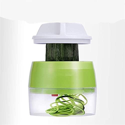 Espiralizador de mano para verduras y frutas, cortador de rallador en espiral ajustable, herramientas de ensalada, calabacín, fideos y espaguetis (color 1, tamaño: 1)