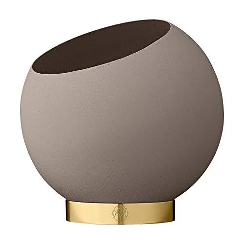 AYTM - Globe - bloempot/plantenpot - metaal/roestvrij staal - taup - Ø 37cm x H: 32,3cm