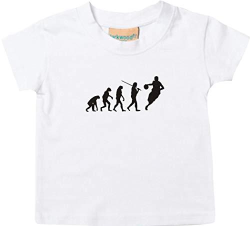 T-Shirt Enfants Evolution Basketball Handball, Culte - Blanc, 12-18Monate