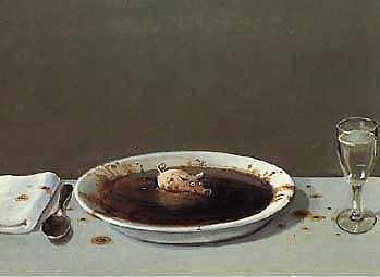 Kunstdruck/Poster: Michael Sowa Suppenschwein - hochwertiger Druck, Bild, Kunstposter, 70x50 cm