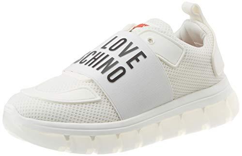 Love Moschino Ja1514, Chaussures de Gymnastique Femme, Blanc (Bianco 100), 38 EU