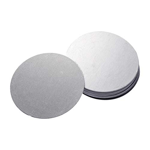 UKCOCO 10Pcs Adhesive Metal Plate, Metal Disc Replacements Mounting Kits Stickers, Magnetic Car Vehicle Mount Holder (Silver/Dia:4cm)