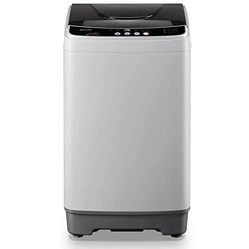 Full-Automatic Washing Machine, WANAI Portable Washer Spinner 1.32cu.ft/12lbs Compact Laundry Washing Machine Top Load with Drain Pump 10 Programs 8 Water Level Selections with LED Display