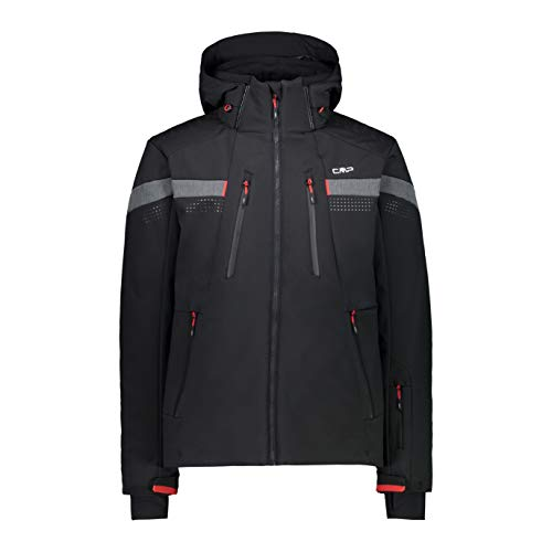CMP Chaqueta de esquí con bolsillos, Hombre, 30W0327, Negro , 52