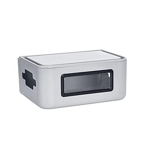 Caja de Almacenamiento de enrutador, Tiras de alimentación a Prueba de Agua de Escritorio, enrutador WiFi, Cable de alimentación, Cable de Carga, Caja organizadora para Oficina en casa