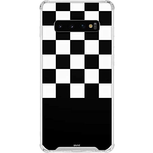 Skinit Clear Phone Case for Galaxy S10 - Officially Licensed Skinit Originally Designed Checkerboard Split Design