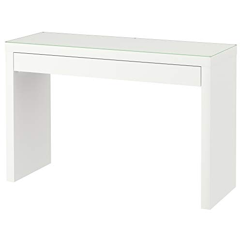 Tocador IKEA MALM blanco con tapa de cristal 120 x 41 x 78 cm