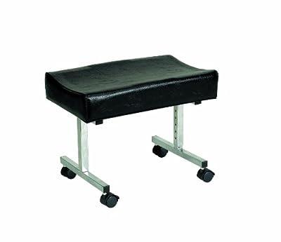 Homecraft Cardiff Adjustable Footstool, Comfortable Padded Legrest, Post Op, Elderly, Non Slip and Stable